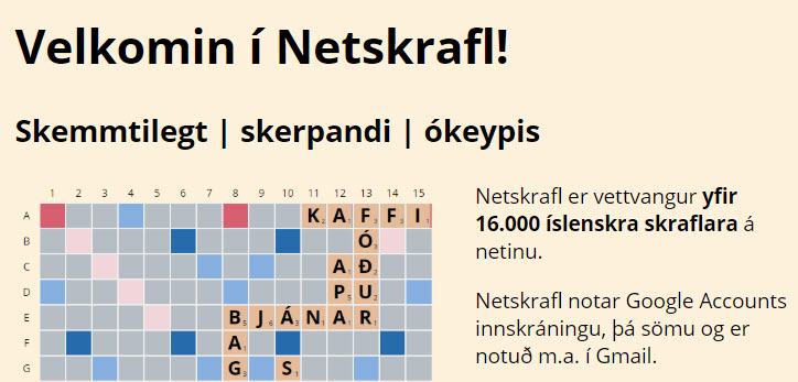 Netskrafl eða Scrabble